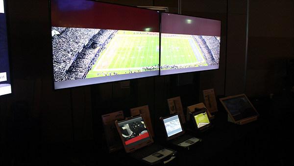 터프북, 터프패드와 경기장을 옮겨 놓은 듯한 영상 솔루션