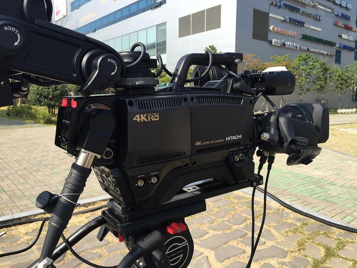 이번 촬영에 사용된 히타치 4K 카메라