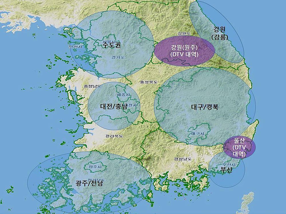 1, 2단계 : 수도권 및 광역시권(강원 평창올림픽 개최지 일원)