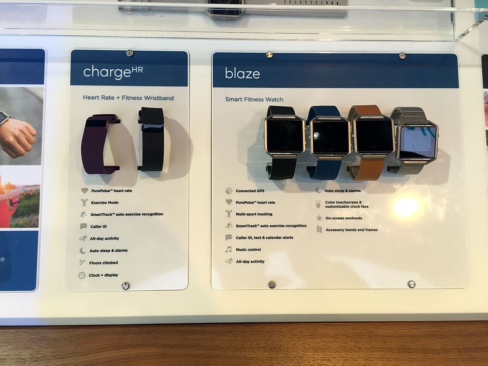 Fitbit의 ChargeHR과 blaze