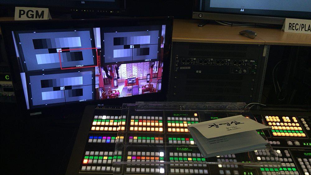 KBS 수원 드라마 제작센터 내 부조정실 / Ross Video – Acuity switcher