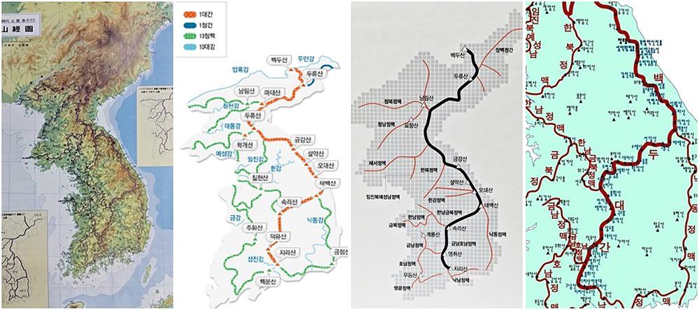 지도 출처 : 산림청, 라푸마, 조선일보사 백두대간 종주산행지도
