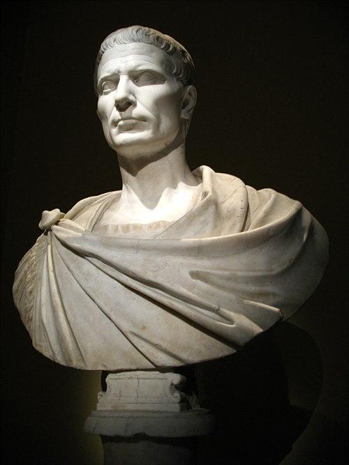 빈의 예술사 박물관에 있는 카이사르 흉상. 가이우스 율리우스 카이사르 (Gaius Julius Caesar), 고대 로마의 정치가, 장군, 작가 (기원전 100년 7월 12일 ~ 기원전 44년 3월 15일) / 출처 : wikipedia