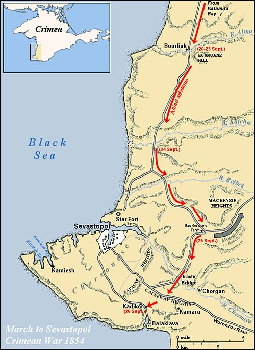 발라클라바 전투가 치러졌던 러시아의 크림 반도 / 출처 : wikipedia