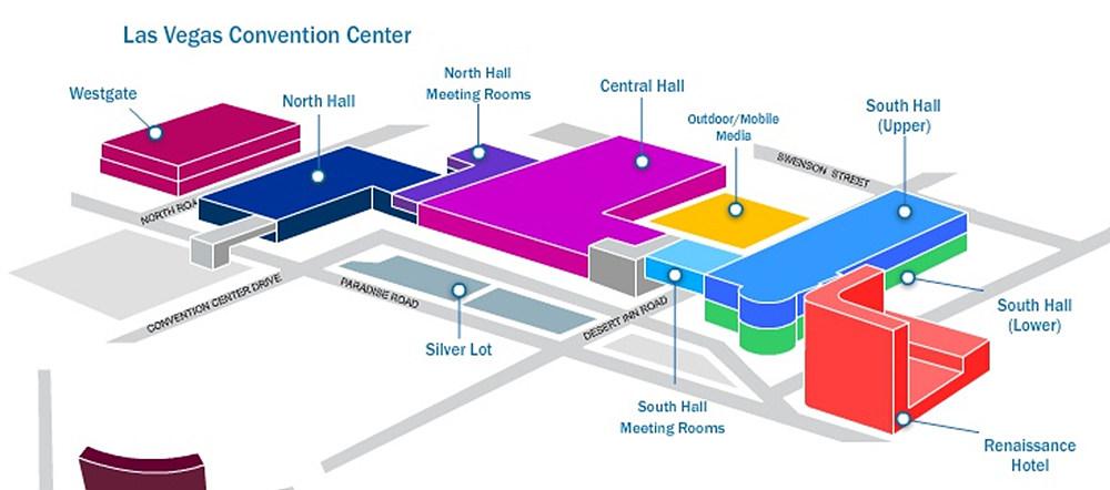 NAB가 열리는 미국 라스베가스 컨벤션 센터