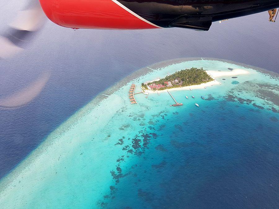 비행기에서의 리조트 사진