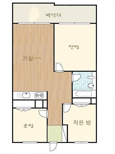 24평 방 배치도