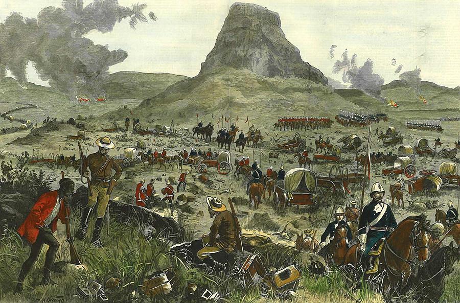 이산들와나 전투 그림 / 출처 : www.britishbattles.com/zulu-war/isandlwana.htm