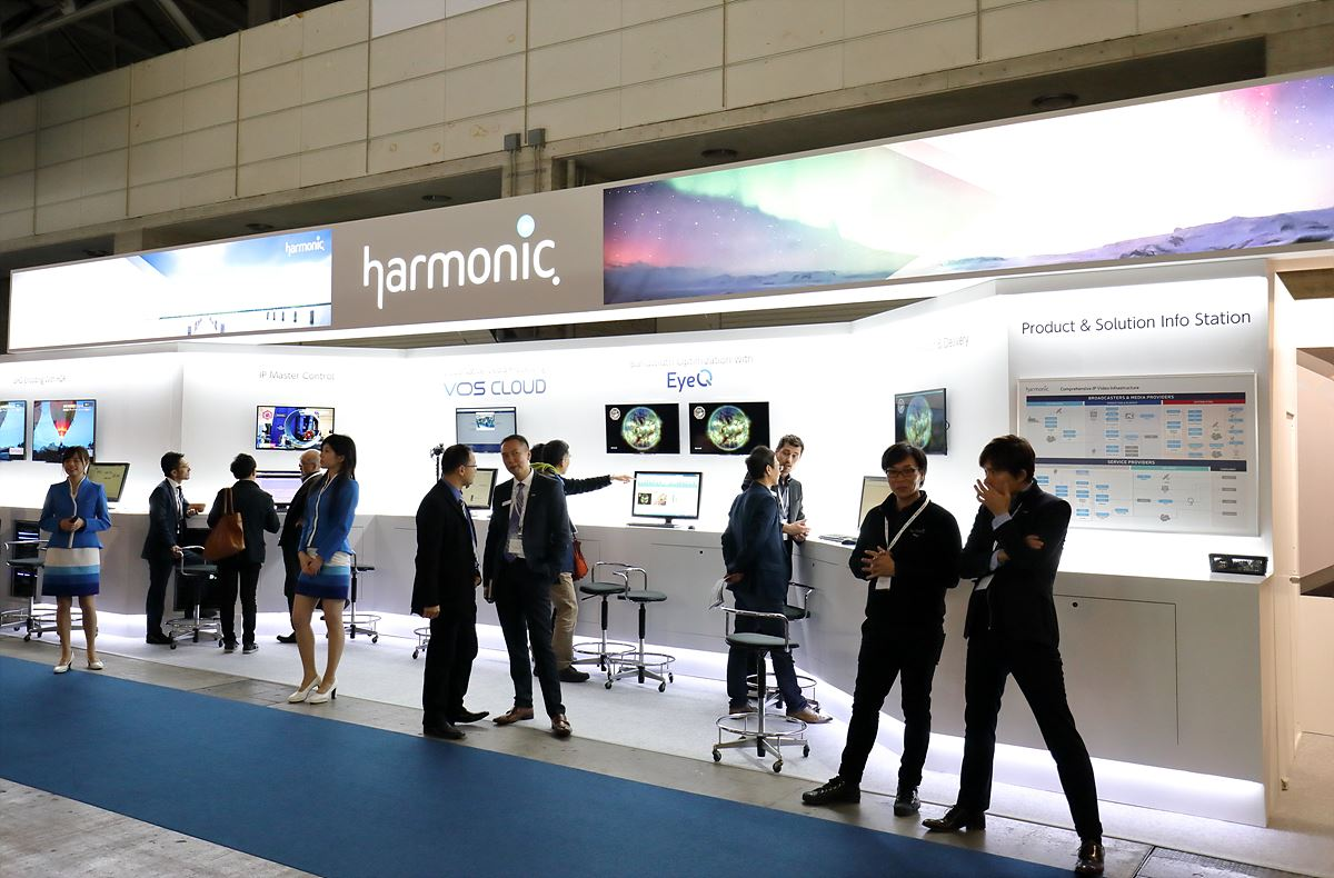 4K 송출 및 IP 기반의 방송장비를 전시한 Harmonic