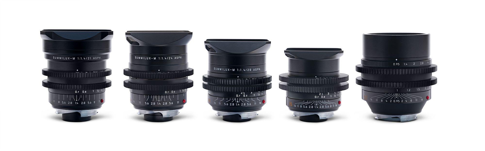 Leica M 0.8 렌즈 21mm f/1.4, 24mm f/1.4, 28mm f/1.4, 35mm f/1.4, 50mm f/0.95 Noctilux