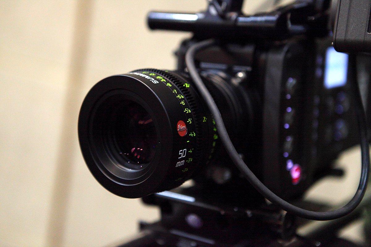 ARRI ARIMA에 마운트된 Summicron-C 50mm 렌즈