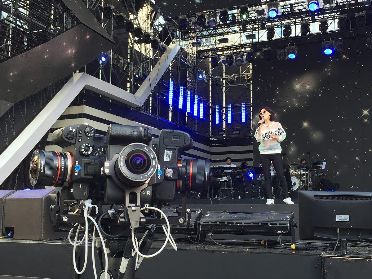 그림 1. 소니 α7 카메라를 활용한 DMC 페스티벌 VR 생중계