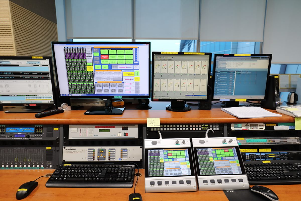 그림 13. 주조정실 오디오 라우터 시스템