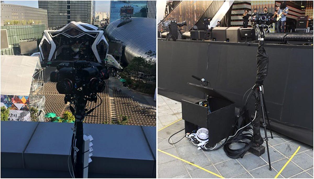 그림 8. VR 중계 카메라는 무엇보다 설치 위치가 중요하다