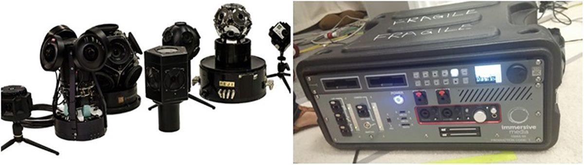 그림 3. im360 카메라 리그와 실시간용 콘솔박스