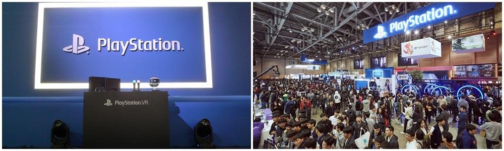 가장 많은 인기를 끌었던 소니의 플레이스테이션 VR 체험관