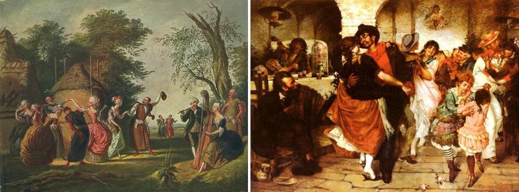 폴로네이즈를 추는 폴란드인(Kornelli Szlegel) / 마주르카 댄스 파티(Egisto Lancerotto)