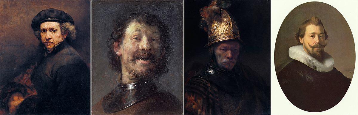 렘브란트 자화상 웃고 있는 남자 황금 투구를 쓴 남자 남자의 초상
