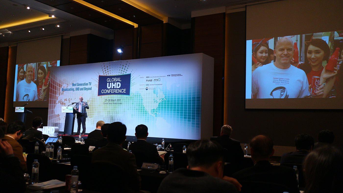 Sam Matheny NAB 부사장은 컨퍼런스에서 ATSC 3.0의 도입이 미국에서도 얼마 남지 않았다고 설명했다.