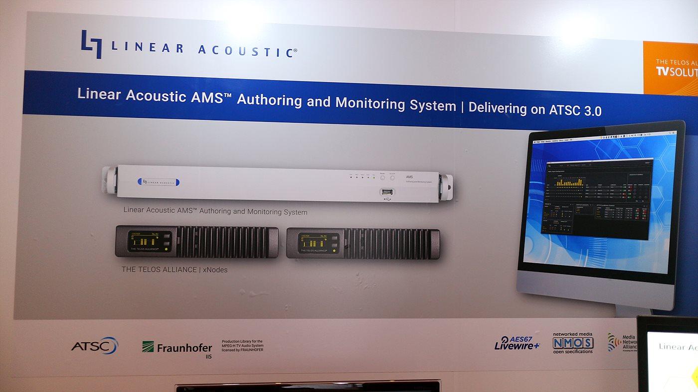 Linear Acoustic 사의 사운드 편집 및 모니터링 시스템