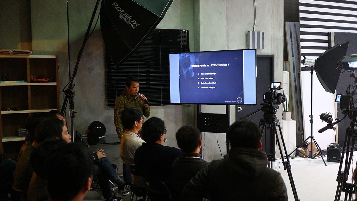 새로운 컨트롤 패널의 사용 소감을 발표한 박원주 컬러티브 대표