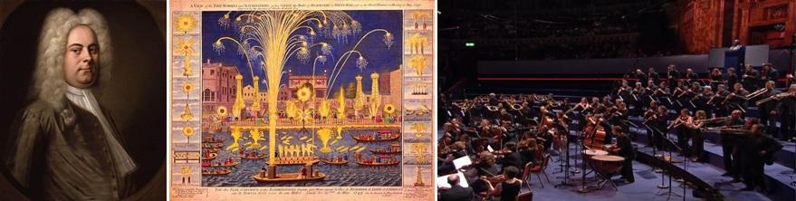 게오르크 프리드리히 헨델 / 1749년 5월 15일 템즈강 불꽃놀이 /  연주 장면