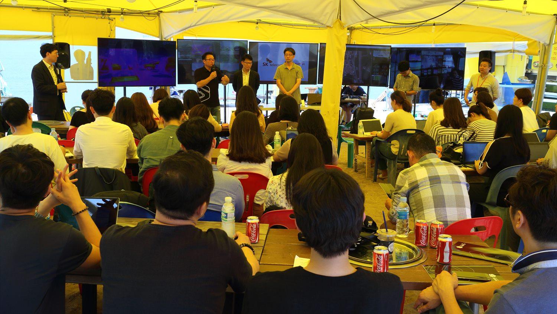 지난 7월 14일 인천 왕산해수욕장에서는 영상재난구조 시스템의 기자간담회가 열려 각 솔루션에 대한 상세한 설명과 리허설이 진행되었다