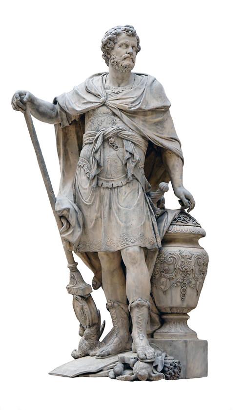 한니발 바르카(Hannibal Barca, 기원전 247년 ~ 기원전 183년)의 조각상