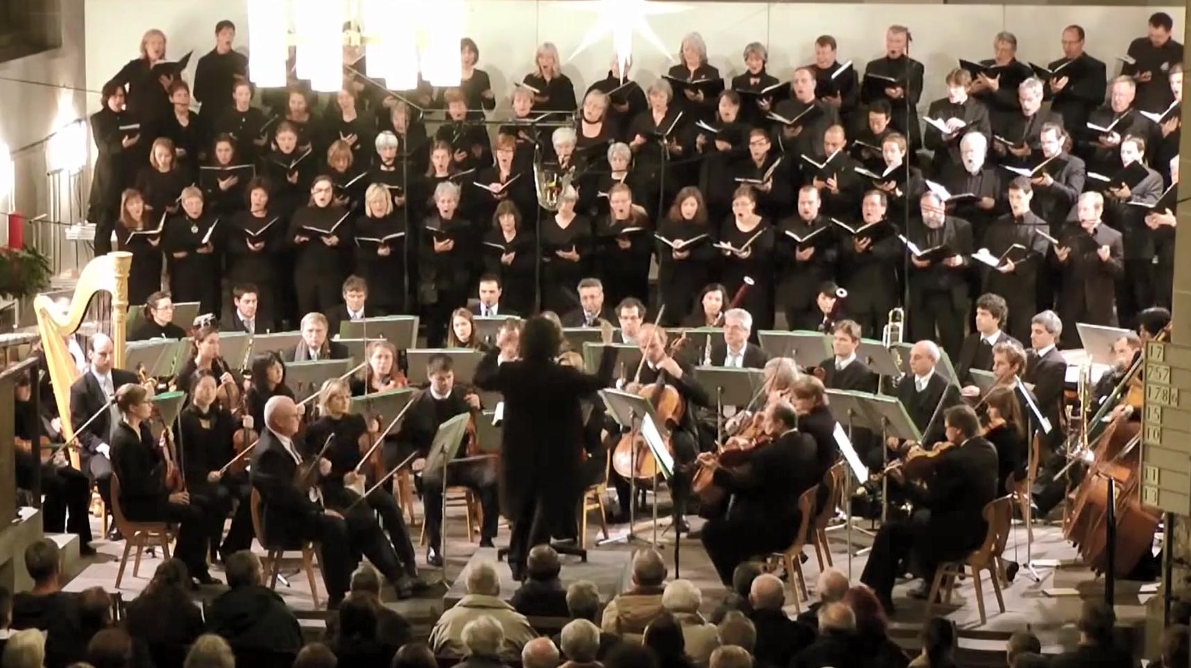 오네게르의 크리스마스 칸타타 연주 장면