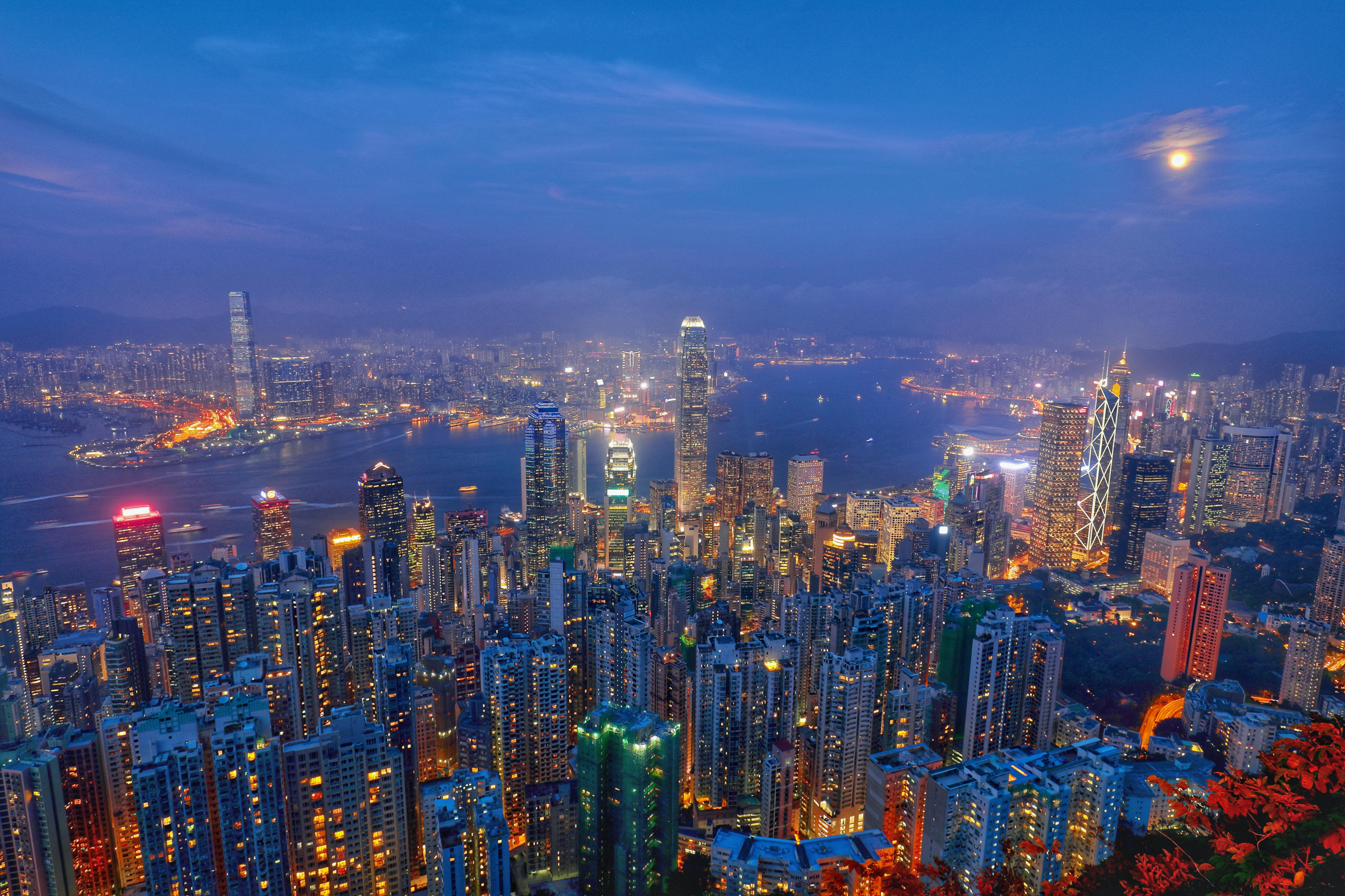 뤼가르드 로드에서 본 홍콩의 야경