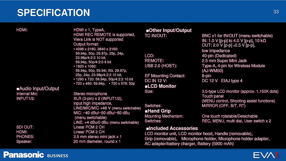 2. AU-EVA1_Master Presentation_Ver1.1A_33