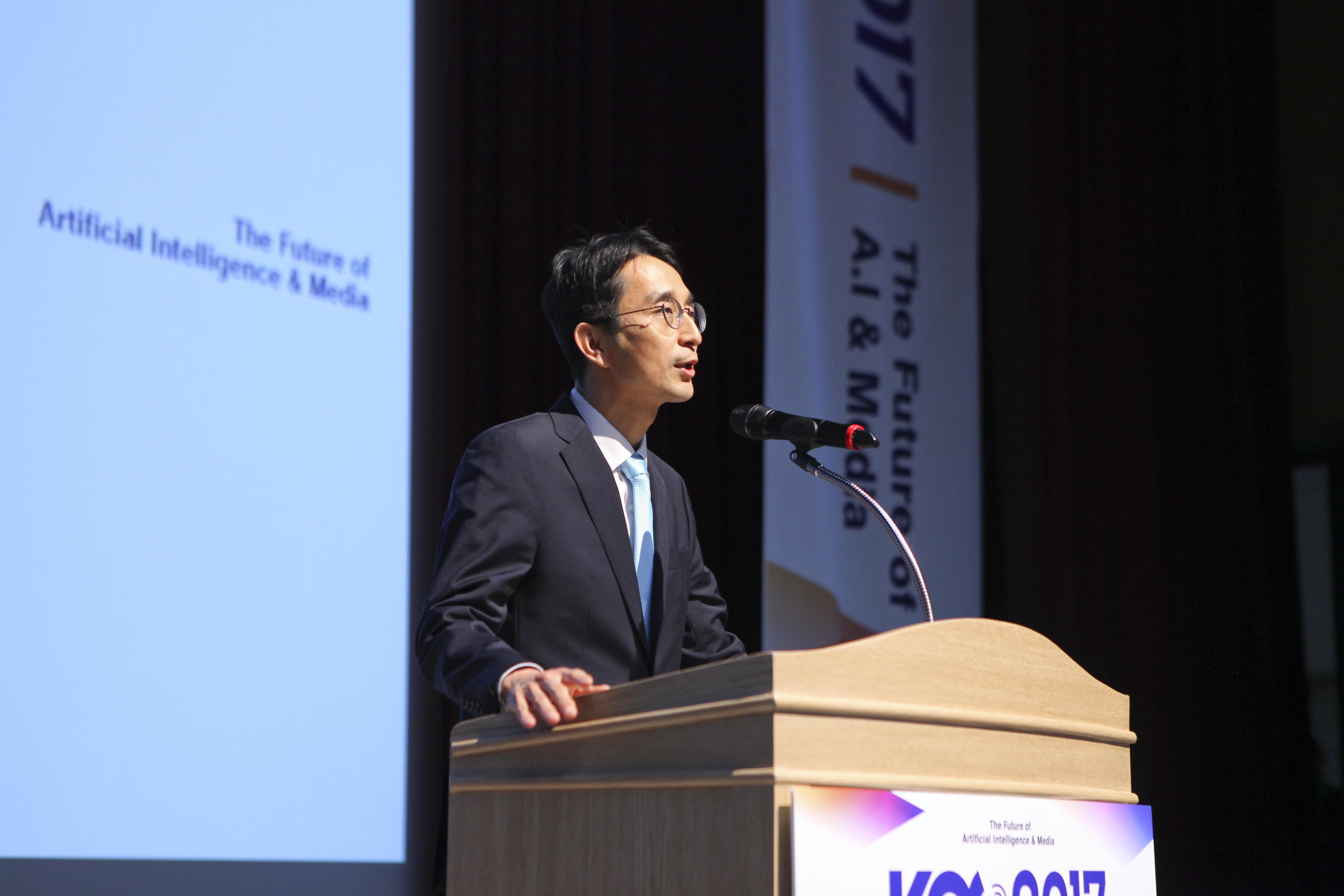 개회사 중인 박종석 한국방송기술인연합회장