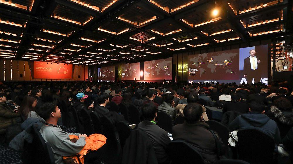 AWS Cloud 2018 행사 전경