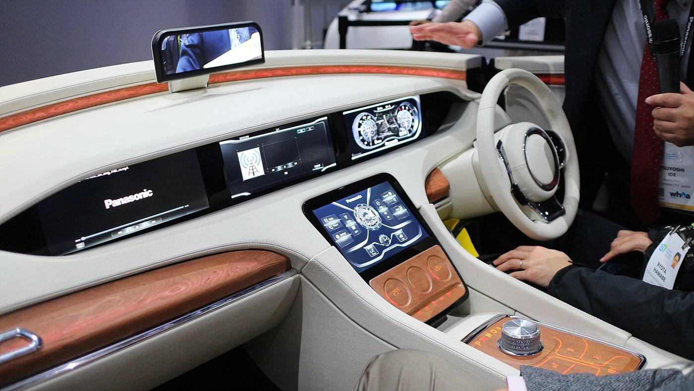 파나소닉의 스마트 디자인 운전석 콘셉트