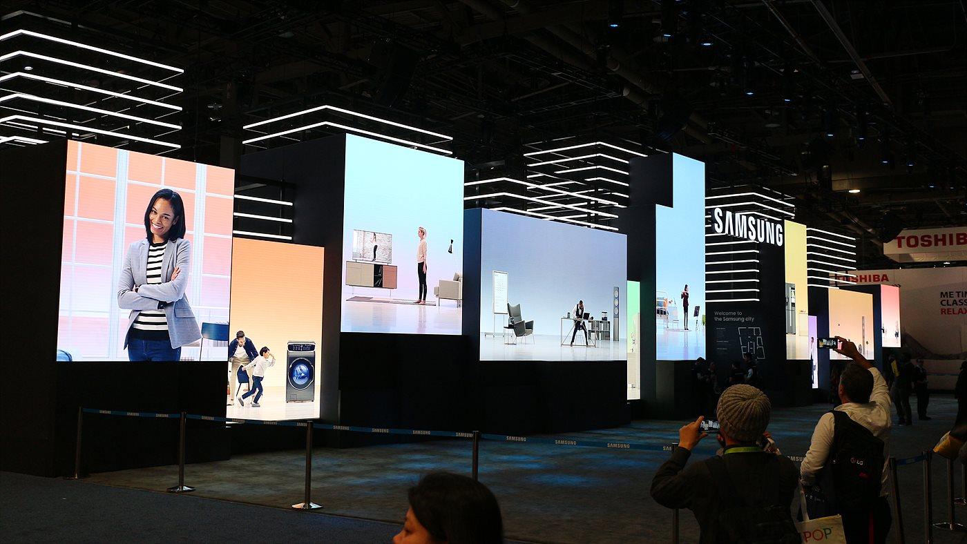 삼성의 변화와 컨셉을 설명하는 부스 전경