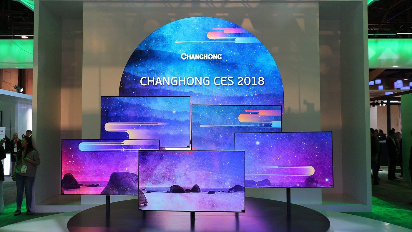 CHANGHONG은 HDR과 안드로이드 기반,의 AI 컨트롤이 가능한 4K OLED TV를 선보였다