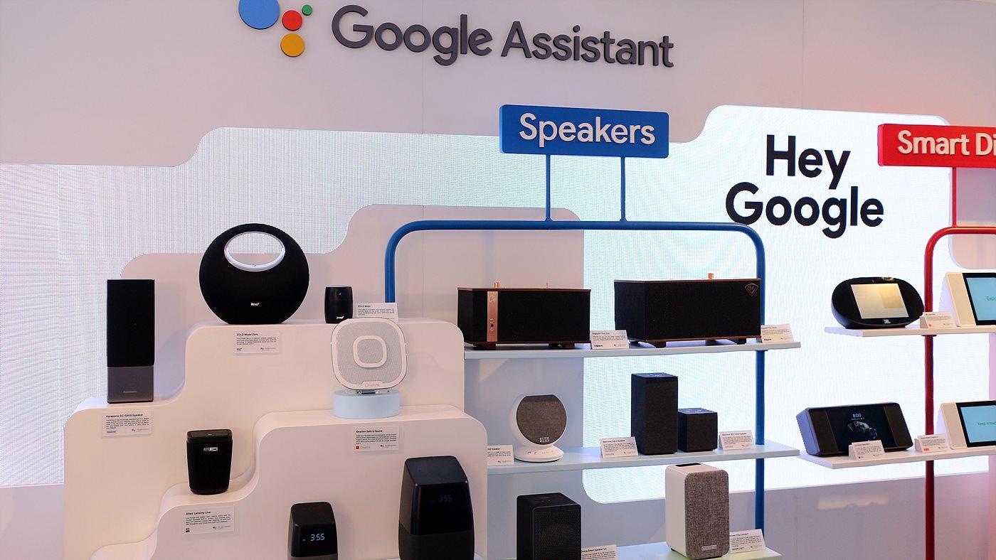 구글 어시스턴트를 채택한 제품 전시