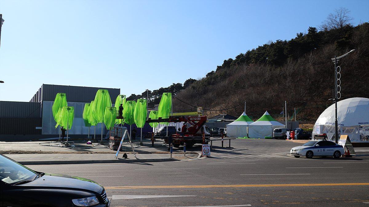 2월 1일, 막바지 준비 작업이 한창이었던 강릉 ICT 홍보관