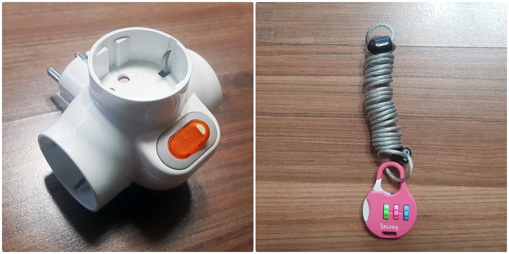 캐리어 와이어와 자물쇠/멀티탭