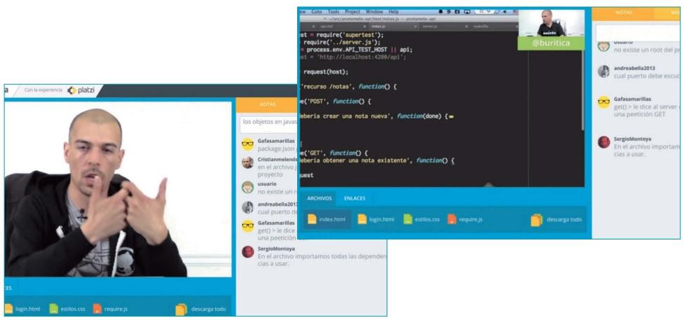 플랫지 수업 화면 / 출처 : 「플랫폼으로 확장되는 에듀테크」