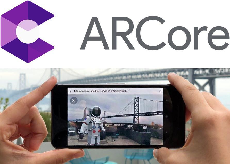 WebAR-Aritcle을 이용해 3D 객체를 웹브라우저로 증강한 화면 / 출처 : 구글