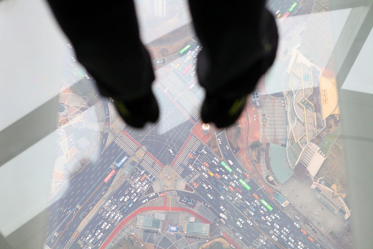 118층 지상 478m 높이에 시공한 '스카이데크'