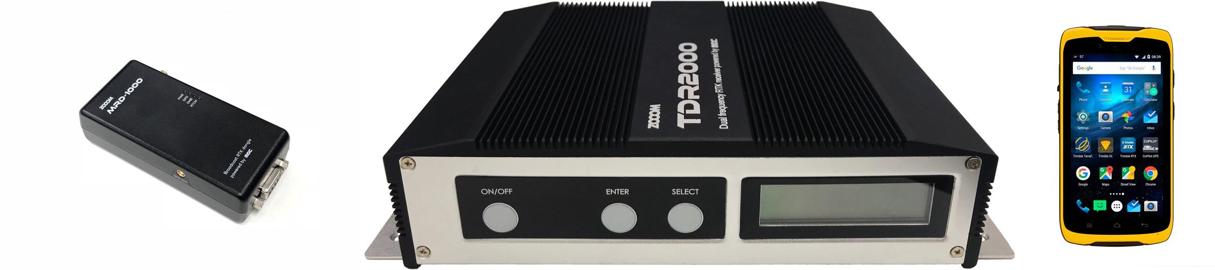 B'RTK 동글 MRD-1000, B'RTK 일체형 단말 TDR2000,  IP 캐스트 RTK 서비스