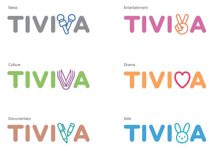 TIVIVA의 다양한 브랜드 아이덴티티