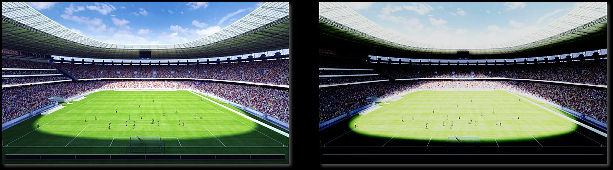 HDR과 SDR 영상미 비교