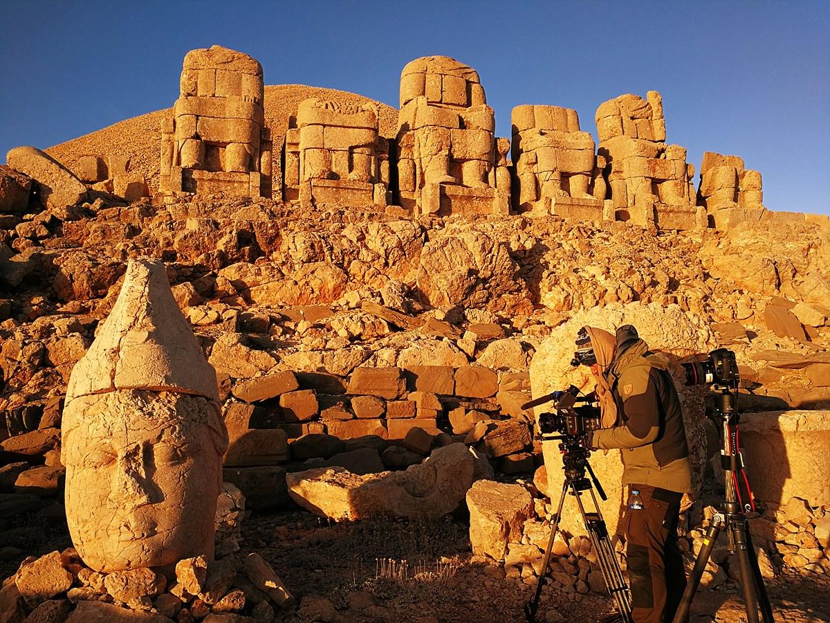 터키, 을하라 계곡에서 촬영 중인 김용 촬영감독