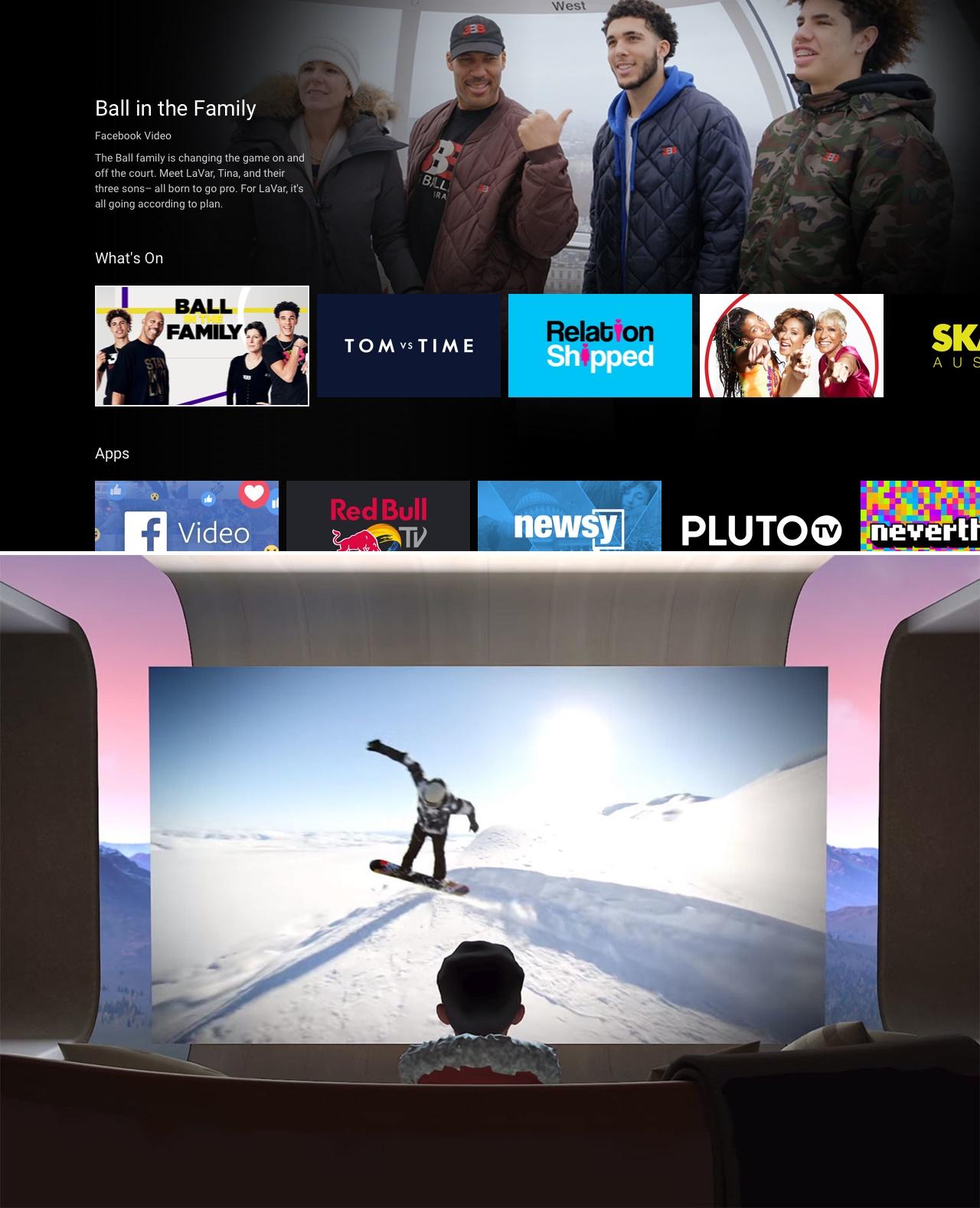 Oculus TV 실행화면