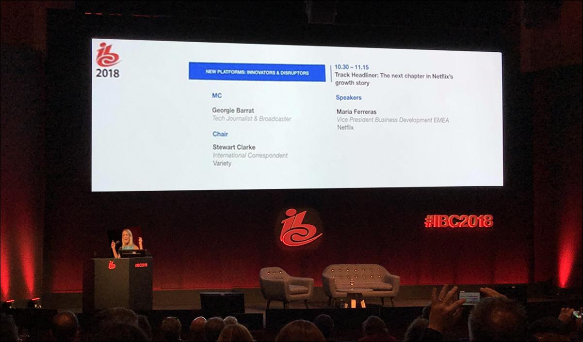 Netflix의 EMEA 지역 Vice President, Maria Ferreras 컨퍼런스 연설