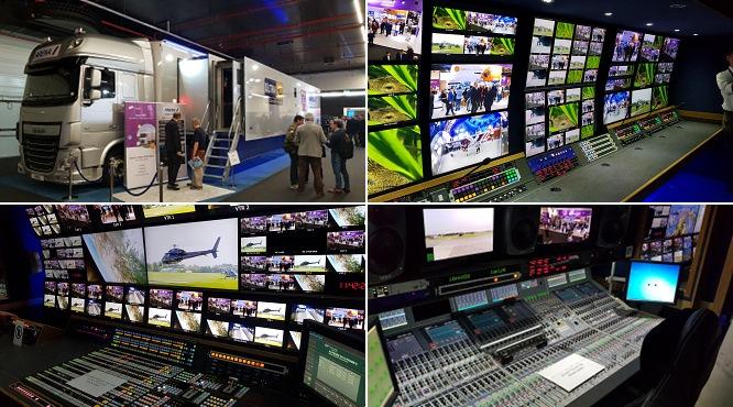 Arena TV의 IP 기반 중계차 내외부