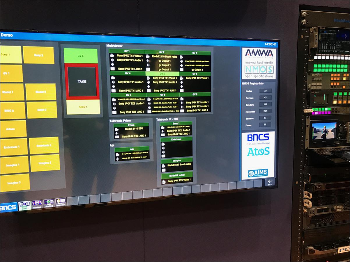 NMOS 관리 소프트웨어 GUI